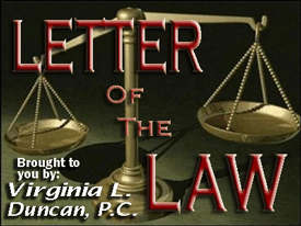 Letter of the Law on 780 KAZM