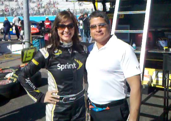 Rob Lezcano the crisis with Miss Sprint cup Paige Duke